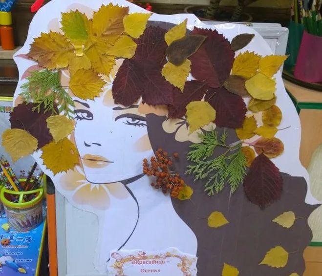 Портреты из листьев своими руками на тему осень фото