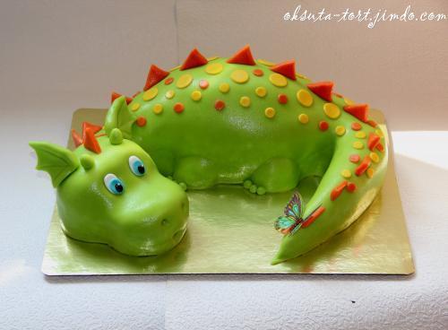 Торт динозавр своими руками из мастики