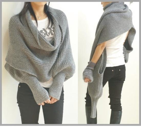Вязание свитер шарф спицами 8