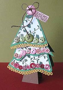 елка-открытка, открытка из елки на Новый год