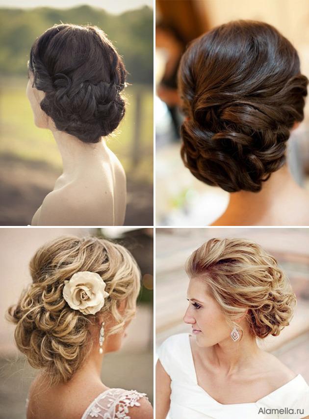 Лёгкие красивые причёски на свадьбу
