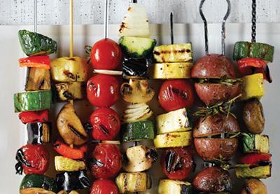 шашлык из овощей гриль