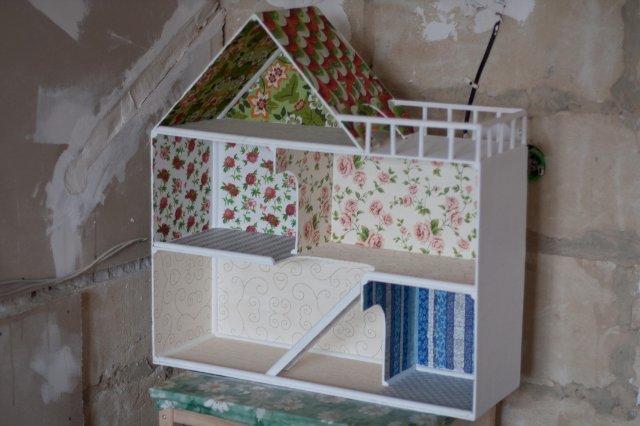 Кукольный домик своими руками из гипсокартона пошагово 52