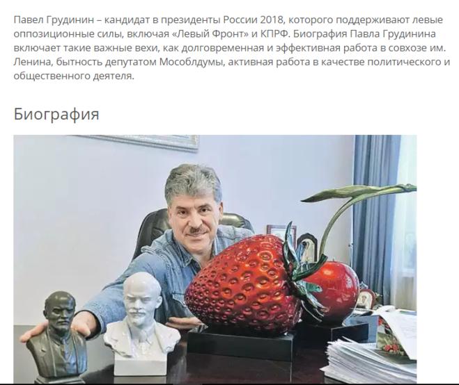 Биография Павла Грудинина