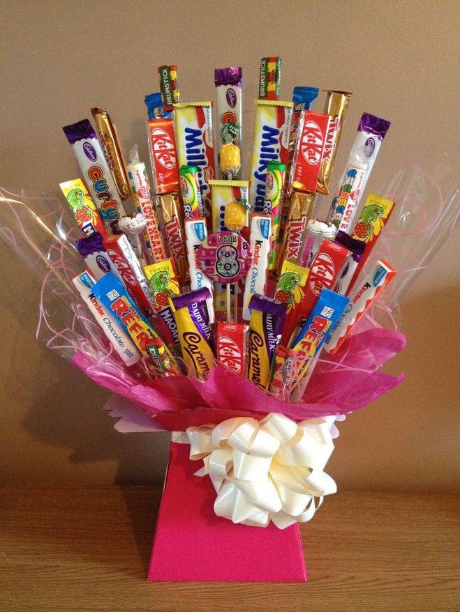 Как сделать подарок из конфет на день рождения
