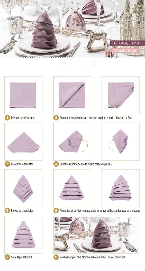 Как сложить салфетку елочкой видео