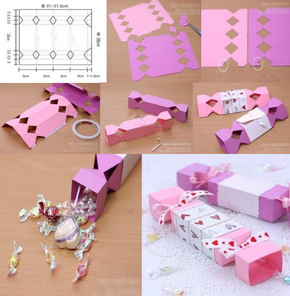 Из картона своими руками сделать конфету