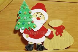 поделка Дед Мороз на Новый год, аппликация Дед Мороз