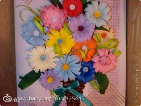 Аппликации цветов из гофрированной бумаги своими руками 63