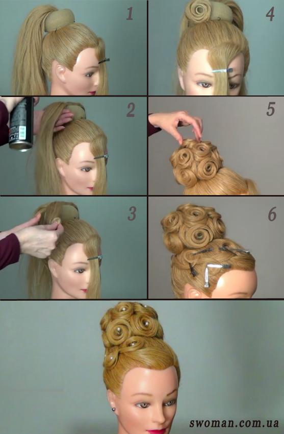 Как сделать прическу пошаговые