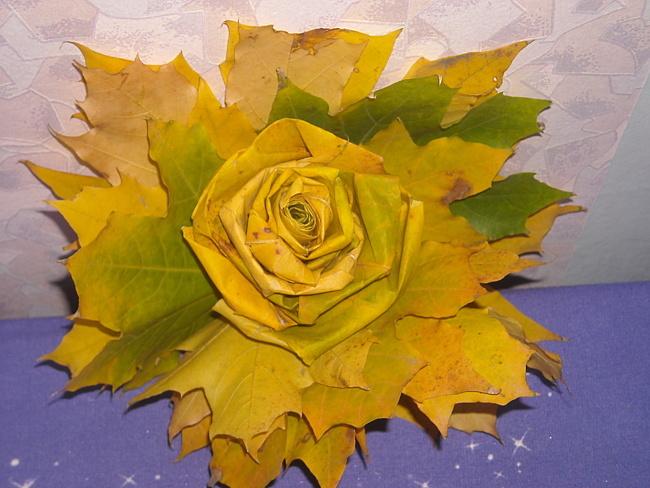 Цветы поделки из листьев своими руками