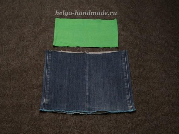 Сшить прямую юбку из джинсов своими руками