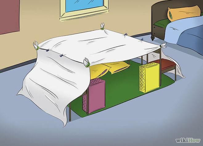 Как сделать шалаш из одеял