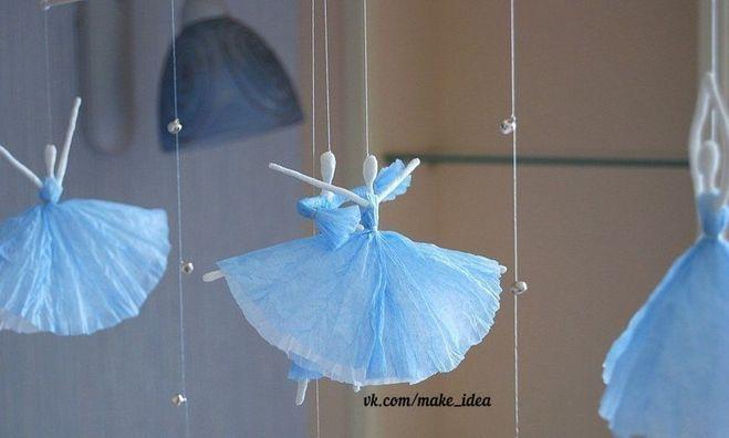 Как сделать из салфетки балерину 757