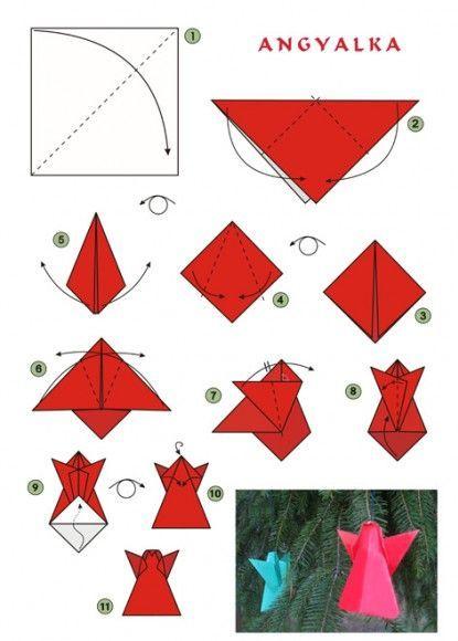 Ангел оригами как сделать