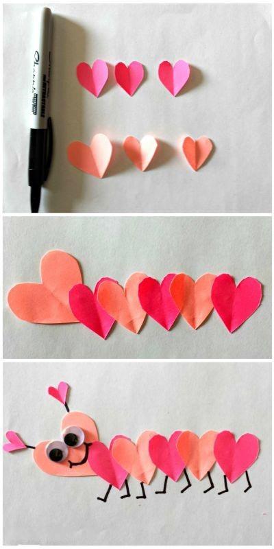 поделка из сердечек своими руками