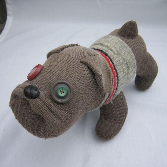 Игрушка собака из носков