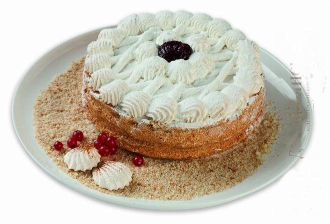 Торт песочный с белковым кремом рецепт