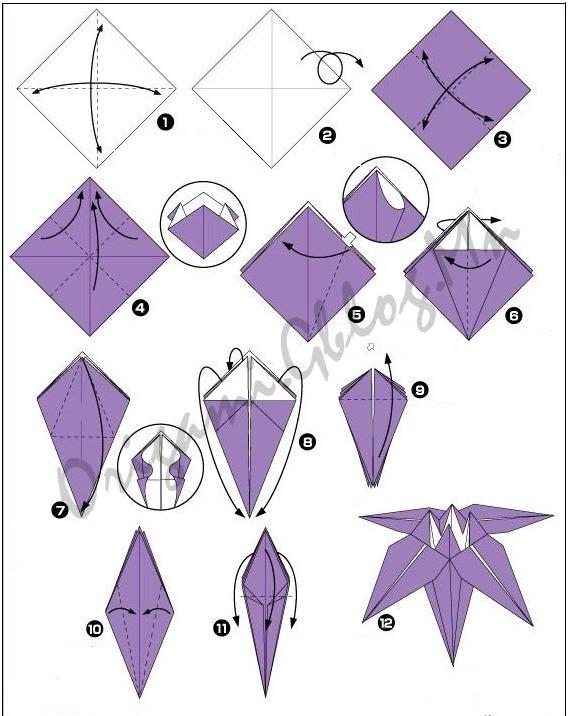 как сделать оригами цветы.