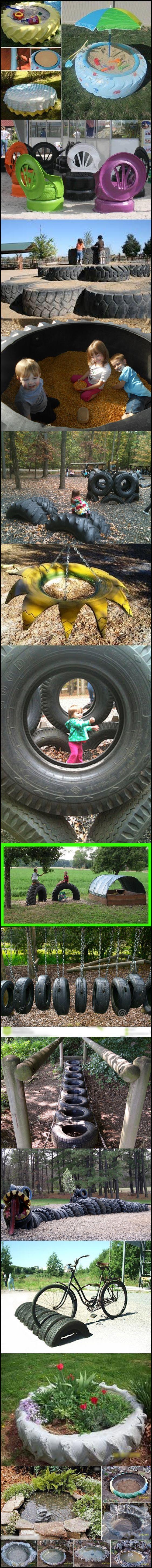 Поделки из резины автопокрышек фото 26