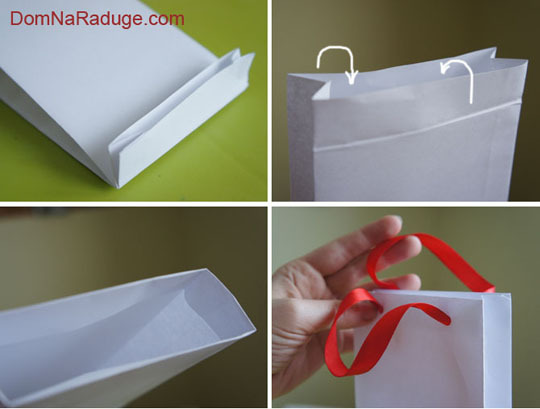 Как сделать пакет, сумочку для подарка своими руками?