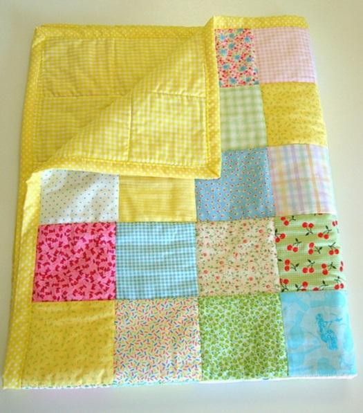 Одеяло для новорожденных своими руками из лоскутов