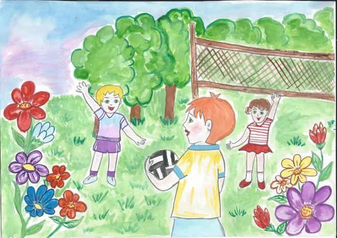 Детские рисунки про воду