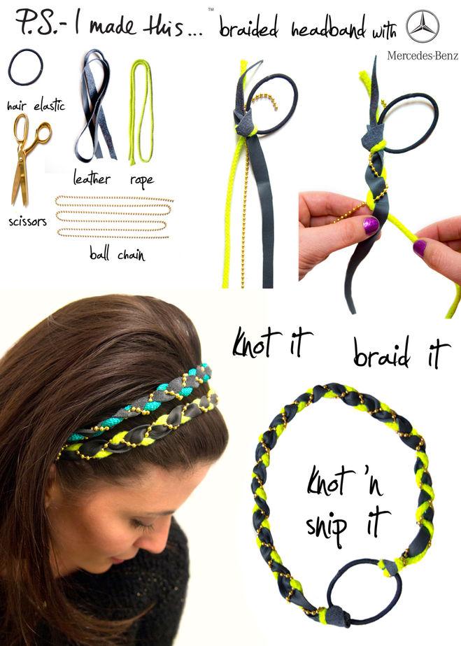 Из чего сделать повязку на голову для девочки своими руками