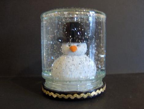 Новогодний шар со снегом как сделать