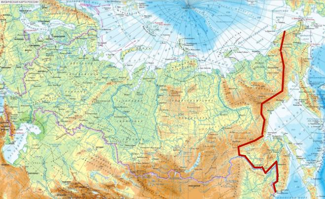 граница Восточной Сибири и Дальнего Востока