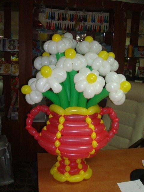 Как сделать из шаров вазу своими руками
