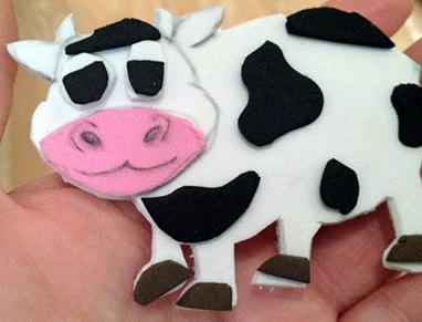 корова из фоамирана на Новый год