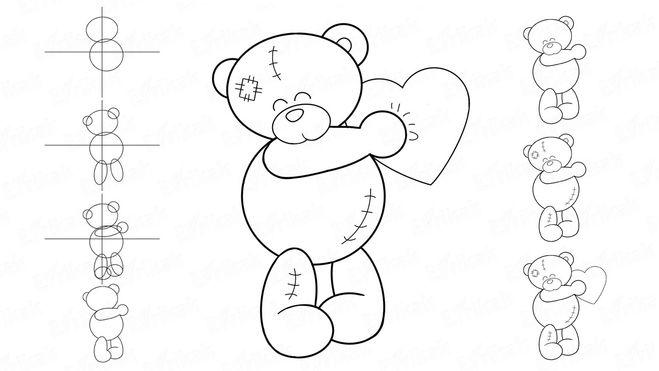 как нарисовать сердце, как нарисовать валентинку