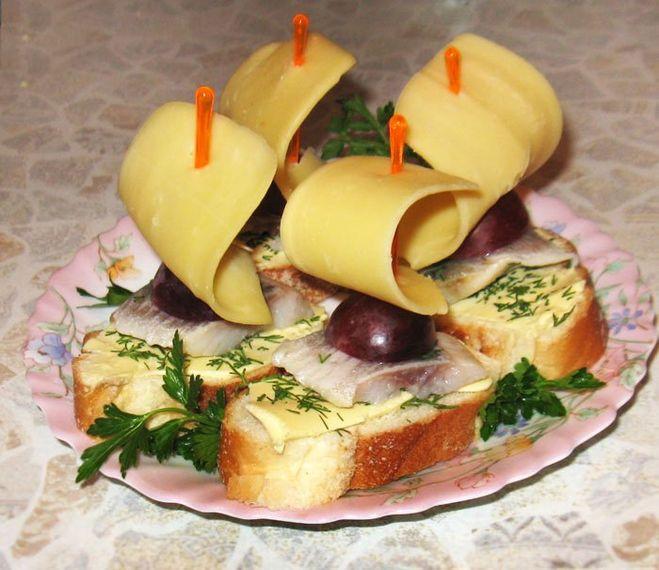 Как сделать бутерброды на стол