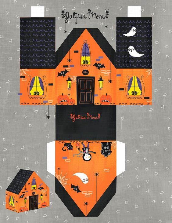 схемы паперкрафт на Хэллоуин