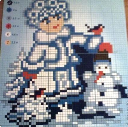 Вышивки крестом снегурочка