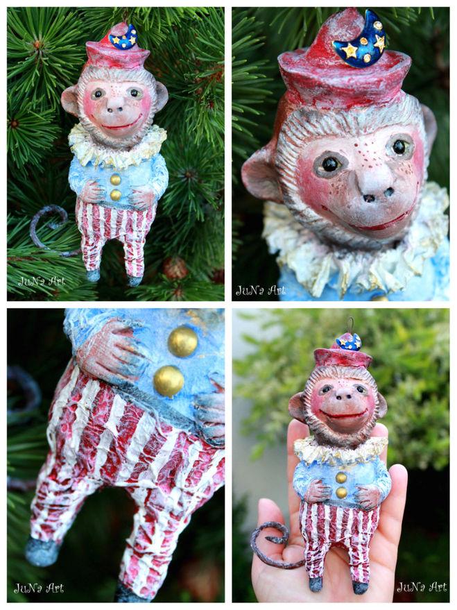 Новогодняя игрушка на елку обезьяна своими руками - SL photo