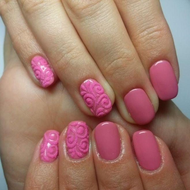 бархатный дизайн на ногтях