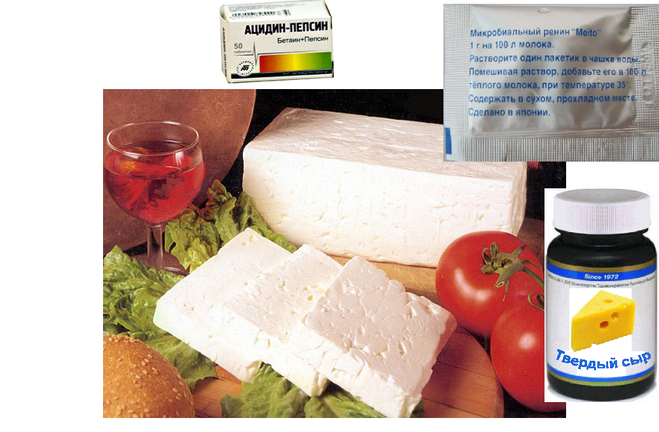 Как сделать из молока сыр с пепсином  257