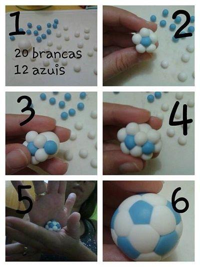 Как сделать футбольный мяч из мастики фото 23