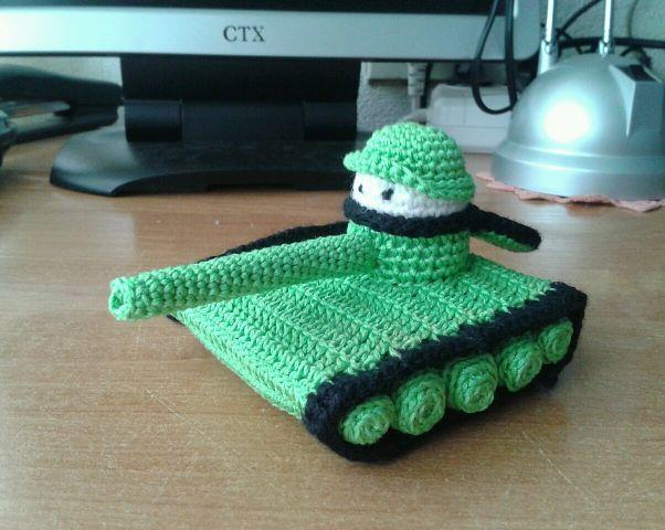 Схема для вязания танка 283