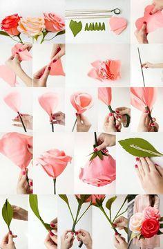 розы из бумаги своими руками мастер-класс