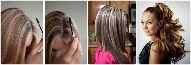 Мелирование седых волос фото