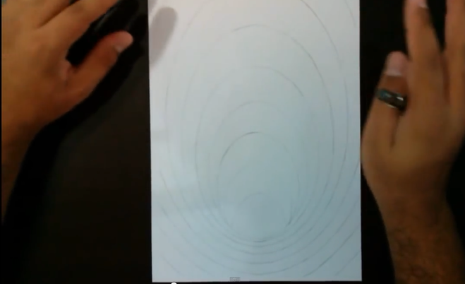 Рисунок на бумаге парню