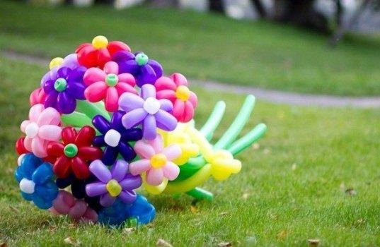 Как сделать букет из шаров сделать своими руками фото 925