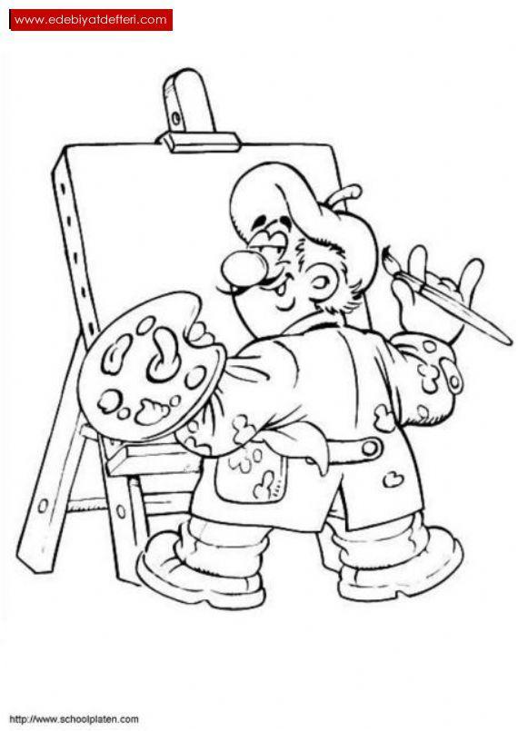 Рисуют профессию художника