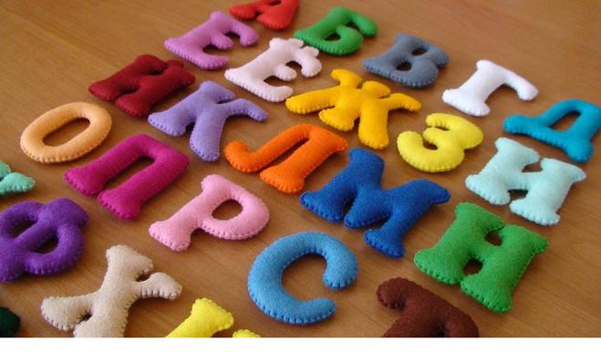Объемные буквы из ткани фото