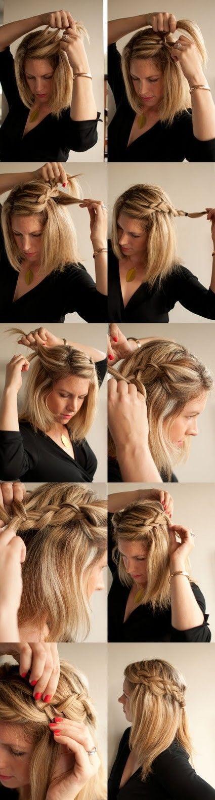 Косы на средние волосы в домашних условиях