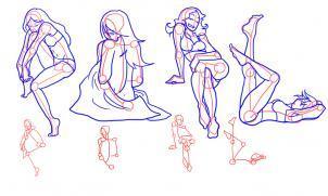 Как нарисовать стоящую девушку  Портрет девушки