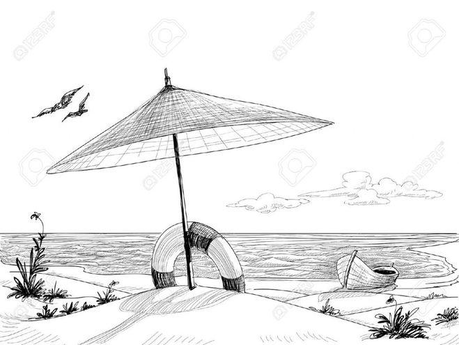 как я провел лето рисунок карандашом